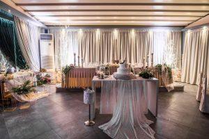 hall ballroom bridal table