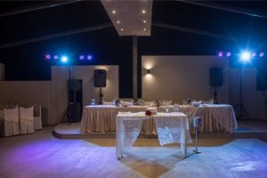 blue light bridal table