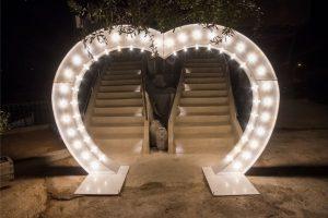 heart shape entrance roof garden